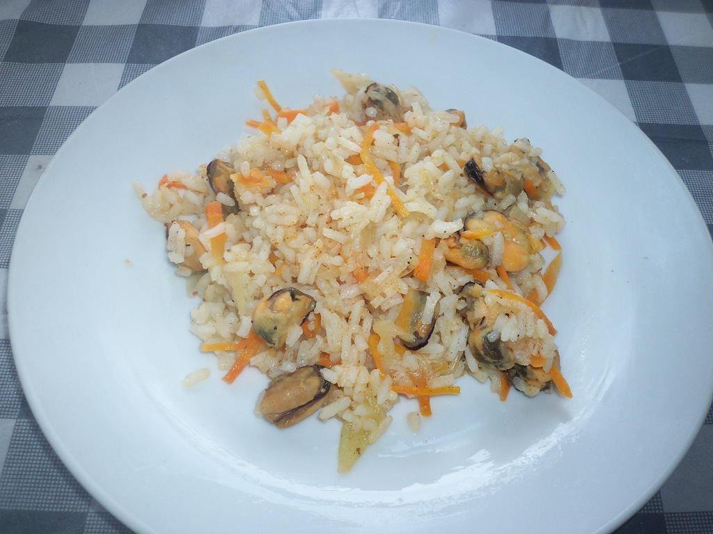 мидии и рис салаты рецепты