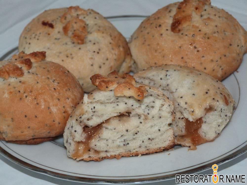 сдобные булочки с вареньем рецепт с фото
