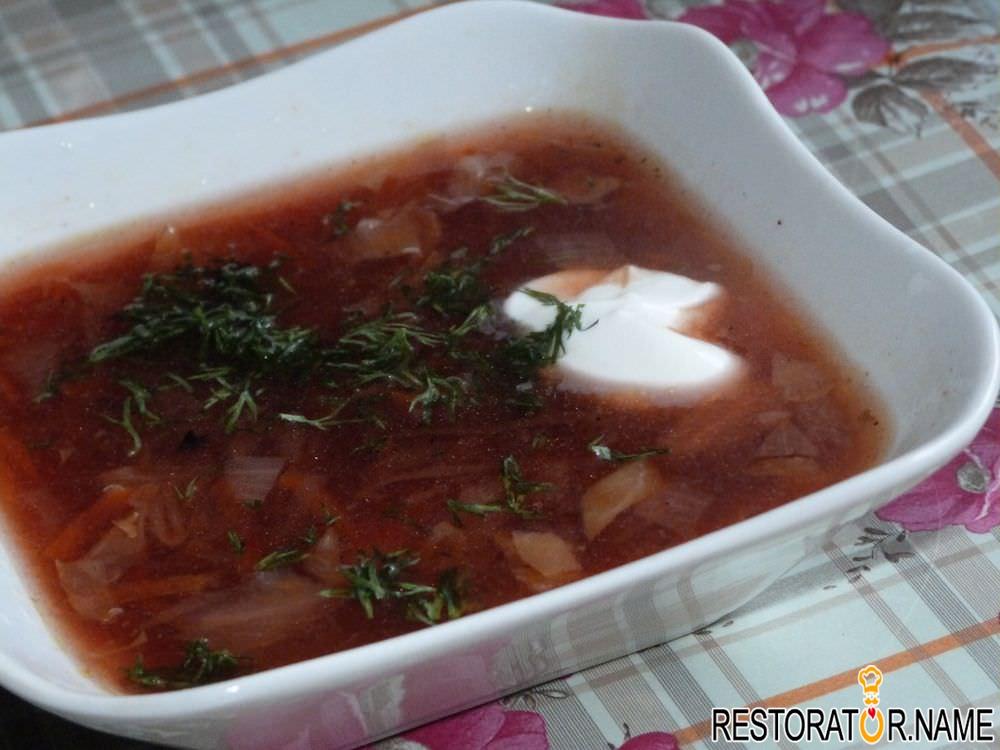 борщ рецепт классический с фото со свининой пошагово