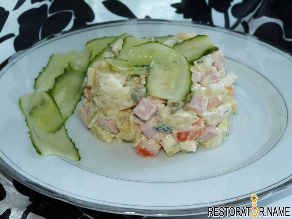 зимний салат рецепт классический со свежими