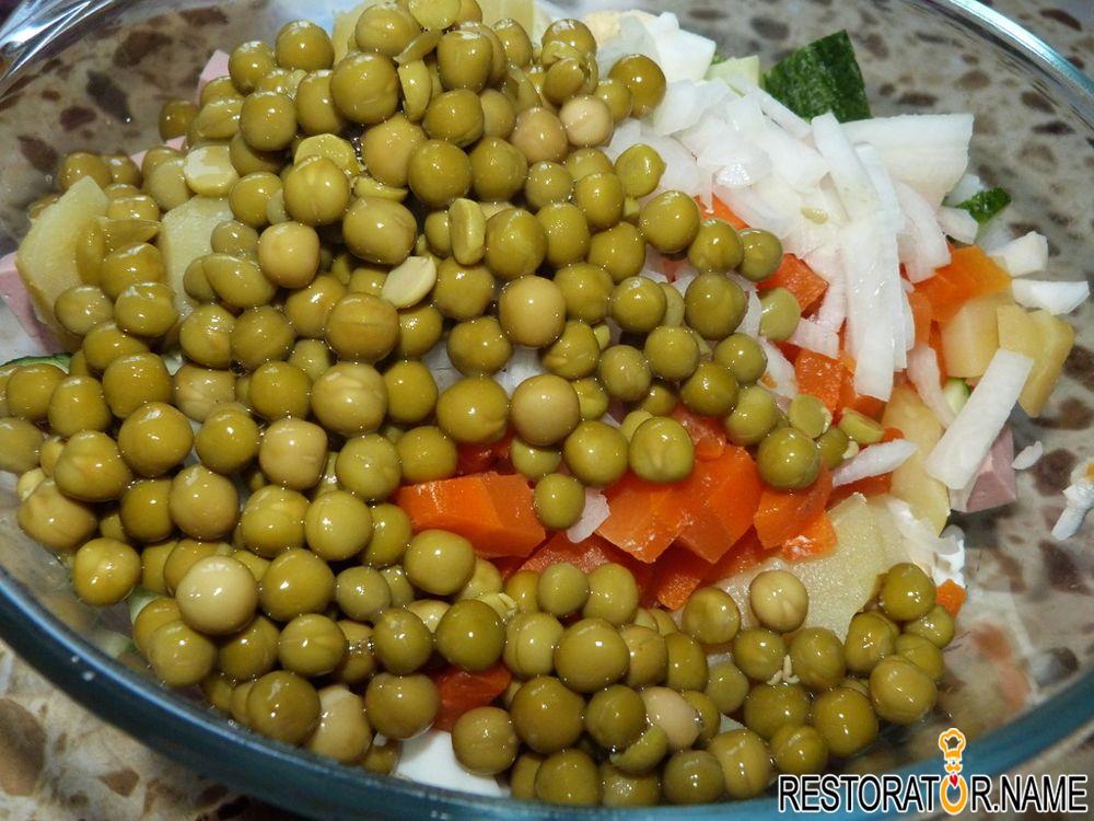 салат оливье рецепт с свежими огурцами