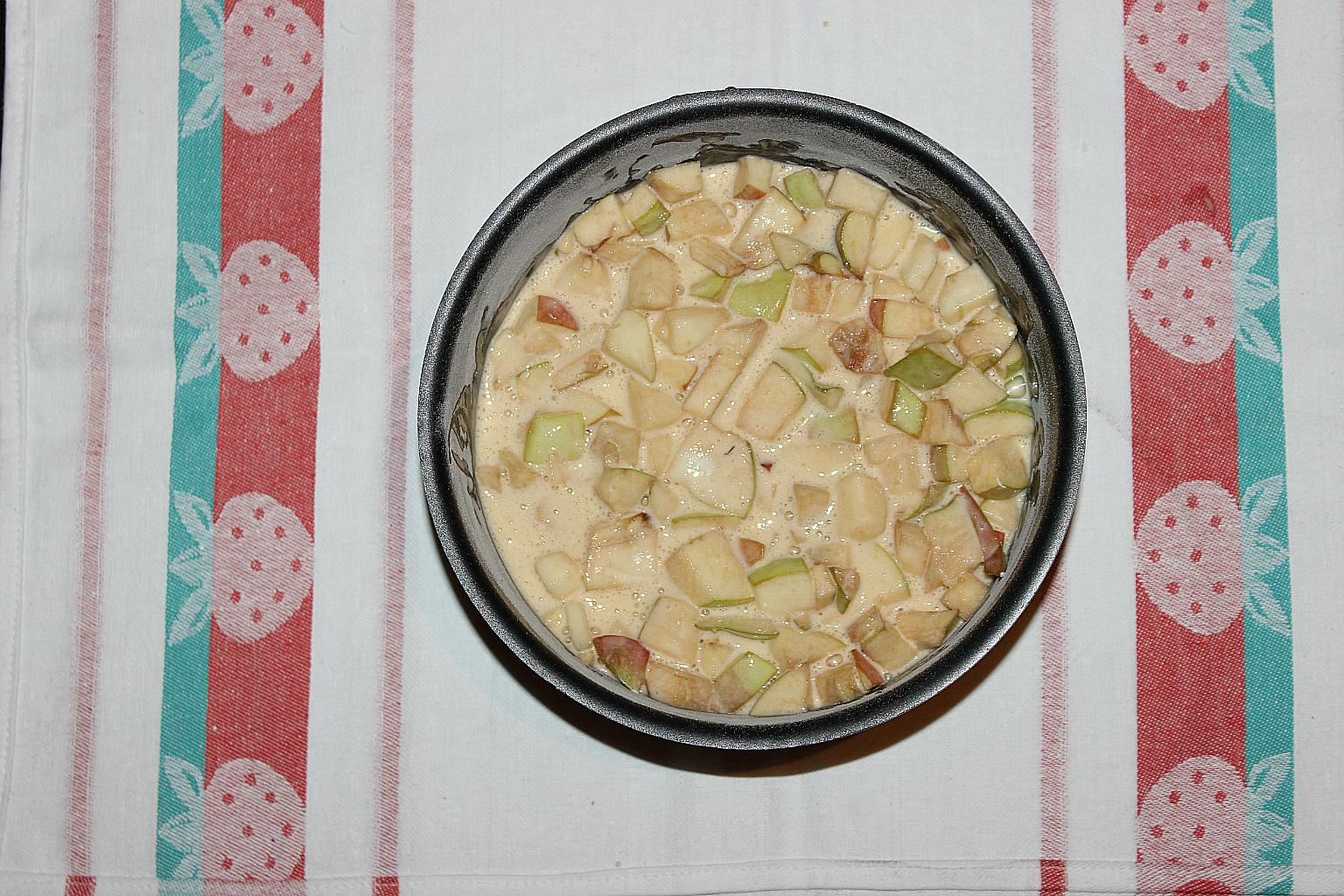 яблочный пирог с нотками ванили