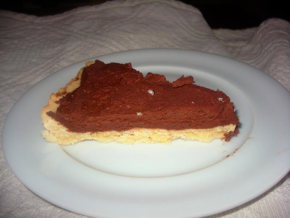 Шоколадный пирог в готовом виде