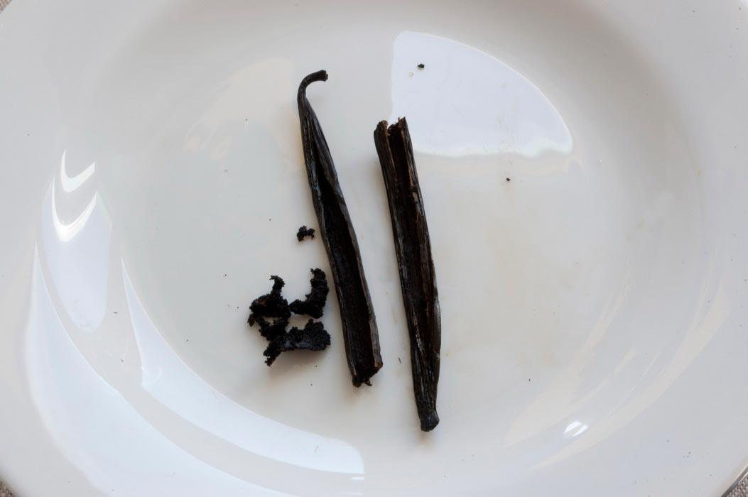 Семена из палочки ванили