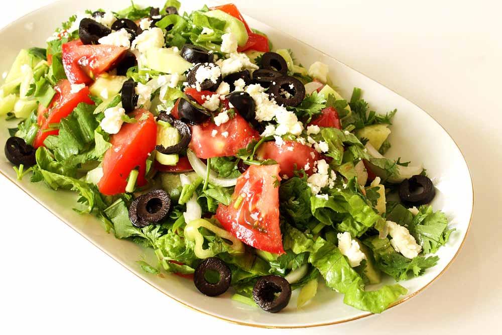 Греческий салат в готовом виде