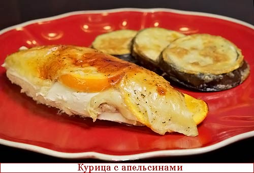 Курица фаршированная апельсинами в духовке рецепт