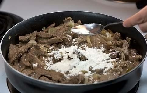 Бефстроганов из говядины пошаговый рецепт с фото
