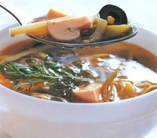 Постная солянка суп рецепт с