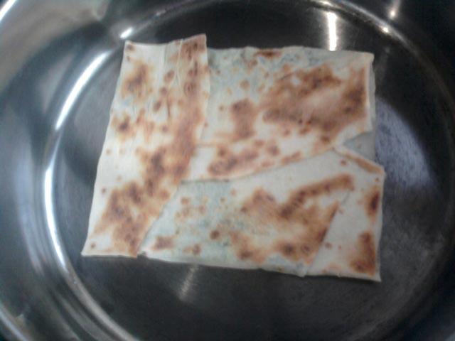 Обжарить Гёзлеме на сковороде