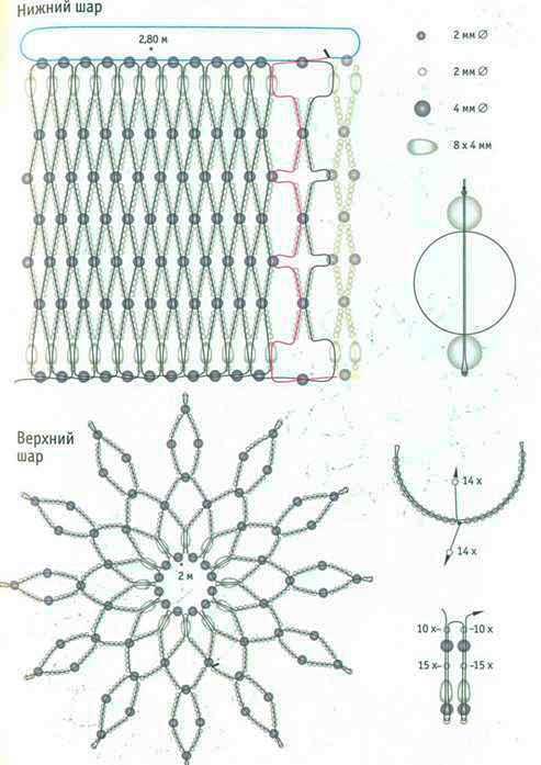 Схема украшения - нежная филигрань