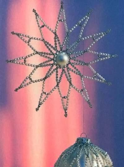 Бело-серебристая звезда