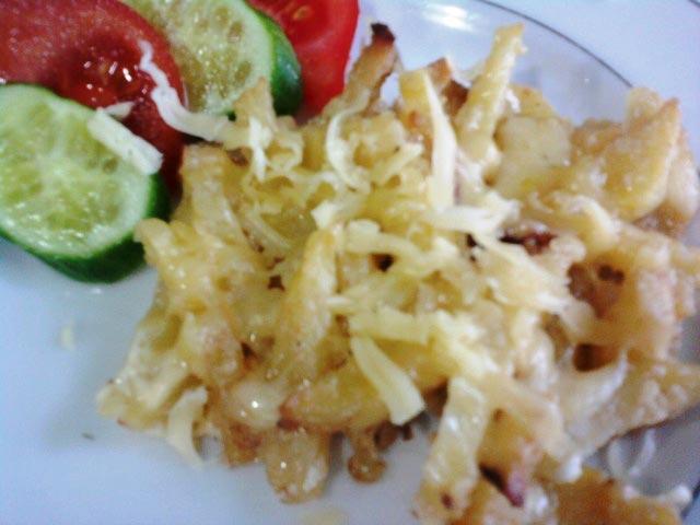 пикантная картофельная запеканка готова
