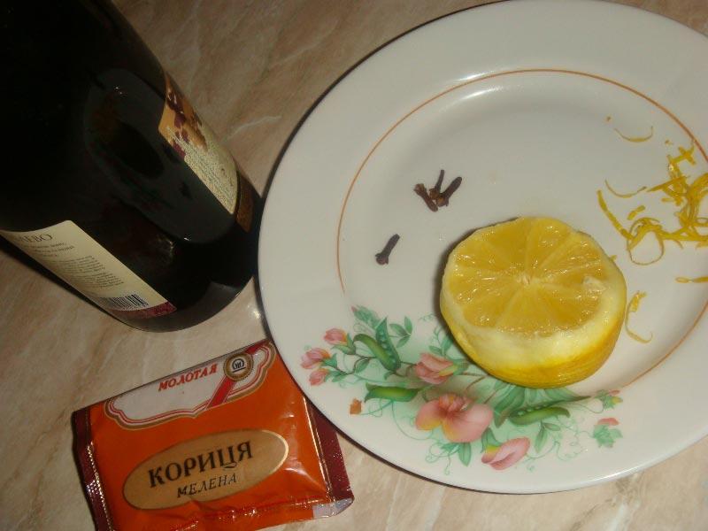 Ингредиенты для глинтвейна