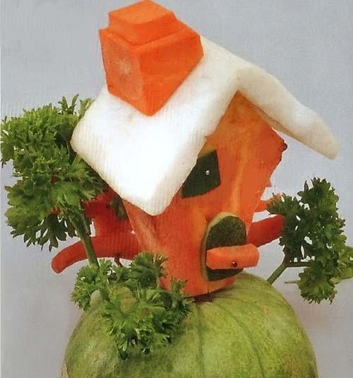 Как сделать из домик из овощей