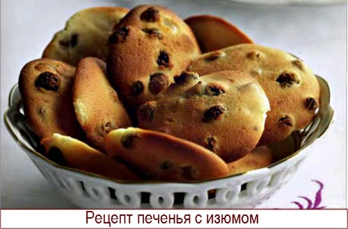 рецепты с изюмом рецепты с фото