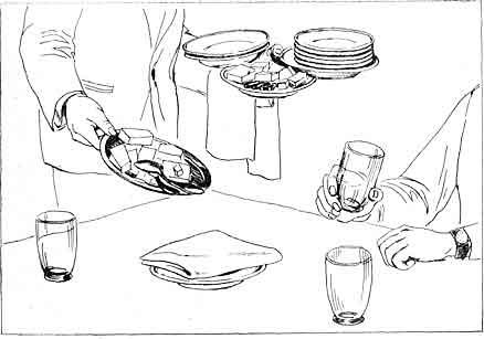Блюда в вагоне-ресторане