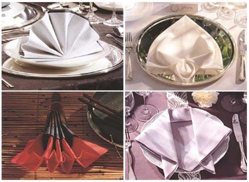 Четыре классических способа сервировки салфеток, каждый из них имеет свою стилистику и может использоваться для...