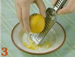 Натереть цедлу лимона